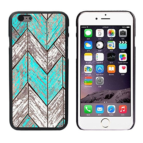 Pooqdo (TM) 2014 Newest Waves Design Wood Style Frame Back Case Cover Skin For iPhone 6 Plus 5.5''