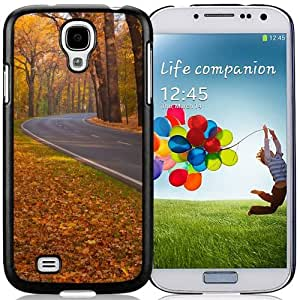 New Beautiful Custom Designed Cover Case For Samsung Galaxy S4 I9500 i337 M919 i545 r970 l720 With Trees Leaves Roads Phone Case