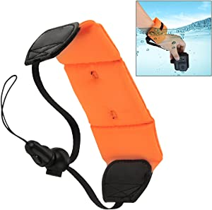 E-outstanding Waterproof Camera Float Strap, Universal Floating Wristband,Hand Grip Lanyard for Underwater GoPro,Waterproof Camera, Keys,Sunglass,etc (Orange)