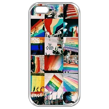 Amazon.com: iPhone 5/SE Case,iPhone 5S LGBT Aesthetic Case ...