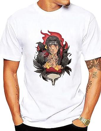 Camiseta Naruto Hombre, Camisetas Naruto Niño, Casual Manga Corta Impresión 3D T-Shirt Abecedario Camisa de Verano Regalo Cuello Redondo Camiseta y Talla Grande Tops: Amazon.es: Ropa y accesorios
