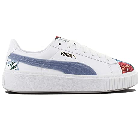 Puma Platform Hyper Embroidered Donna Sneaker Bianco: Amazon