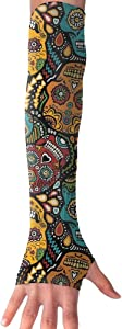 Huadduo Mexican Sugar Skulls UV Protection,Compression & Cooling Arm Sleeves For Women