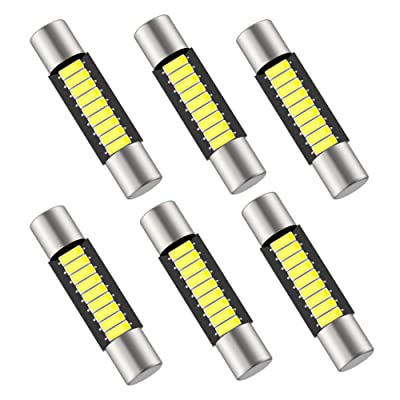 29mm 6614F Festoon LED Bulb Extremely Bright 9-SMD 4014 chips 6000k White 6641 LED Bulb Replacement for Car Interior Dome light, Vanity Mirror Fuse Sun Visor Light 6612F LED Bulbs (pack of 6): Automotive