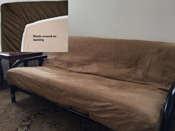Wonderful OctoRose ® Full Size Elastic Bonded Micro Suede Easy Fit Fitted Futon Cover  (Camel)