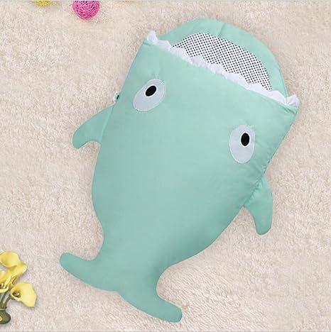 Cute dibujos animados tiburón bebé bolsa de dormir caliente bebé saco de dormir para el invierno