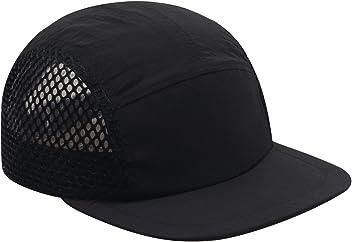 8fbd0f43f53 Hatphile Light Breathable Quick Dry Pocketable Large Mesh Moisture Wick 5  Panel Hat Black