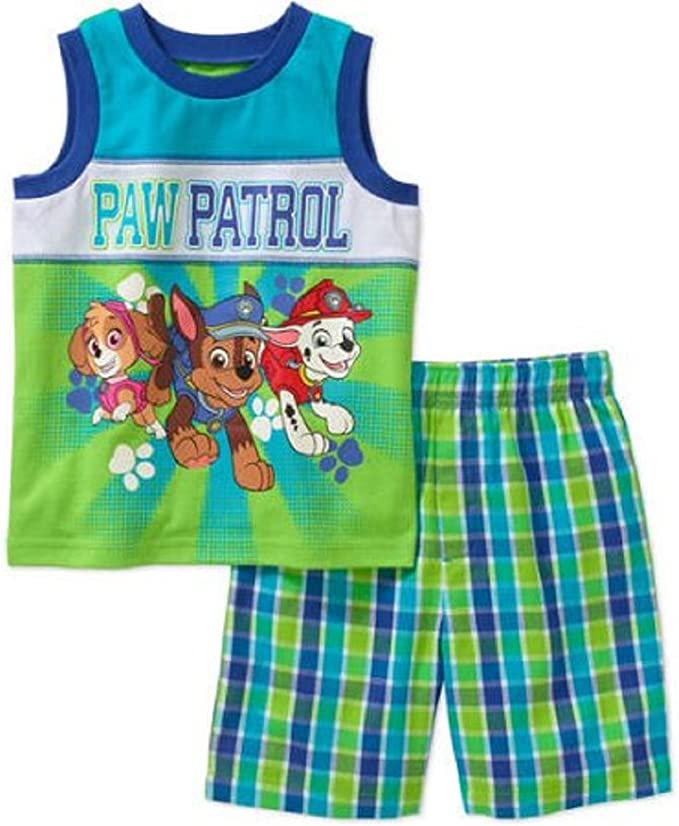 Nickelodeon Paw Patrol Little Boys Tank Top and Shorts 2 Piece Outfit Set 3T