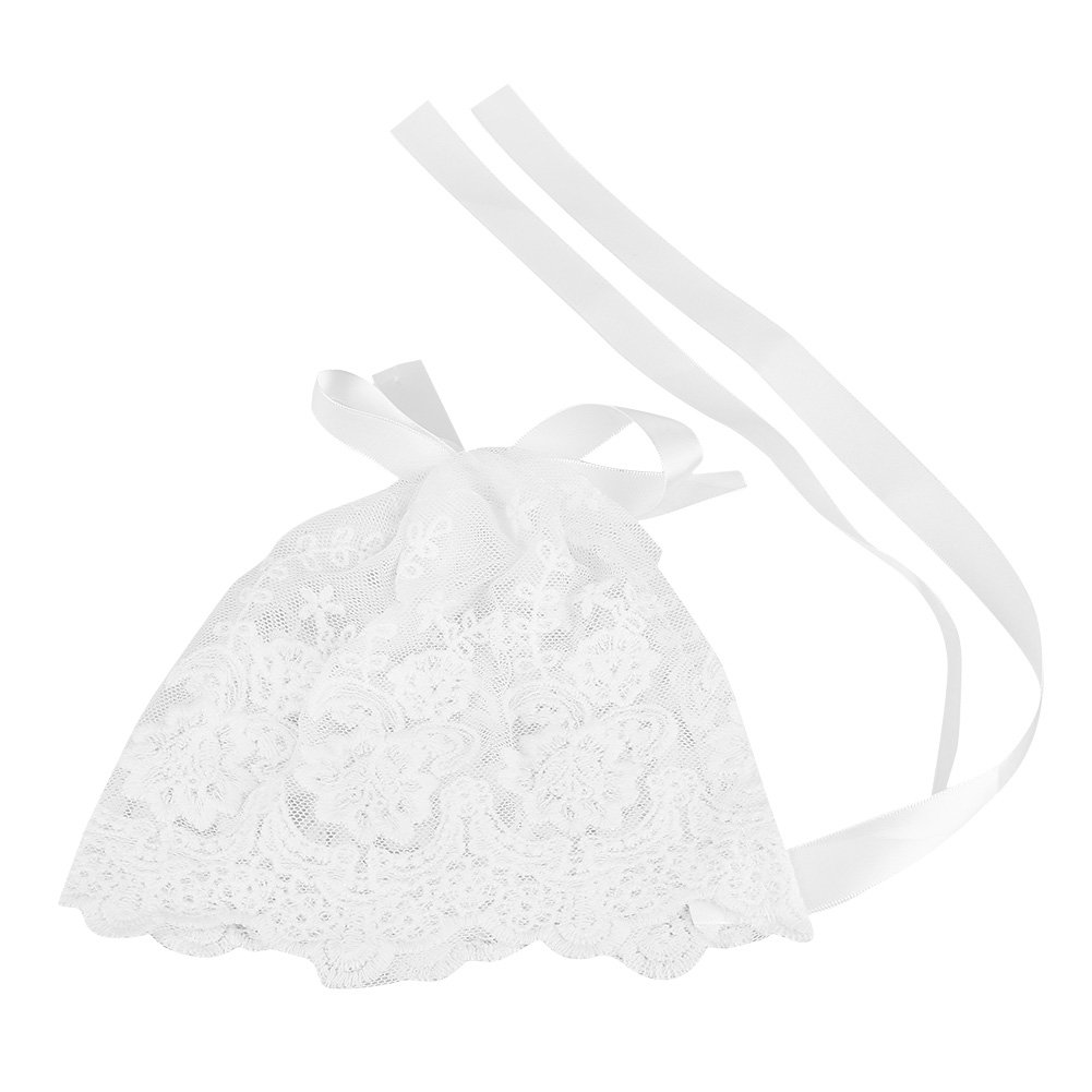 Zerodis Mode Mignon pour bébé Nouveau-né garçon Fille bébé Tenues de Dentelle Costume Photo Photographie Prop Chapeaux Caps Headwear Blanc Blanc