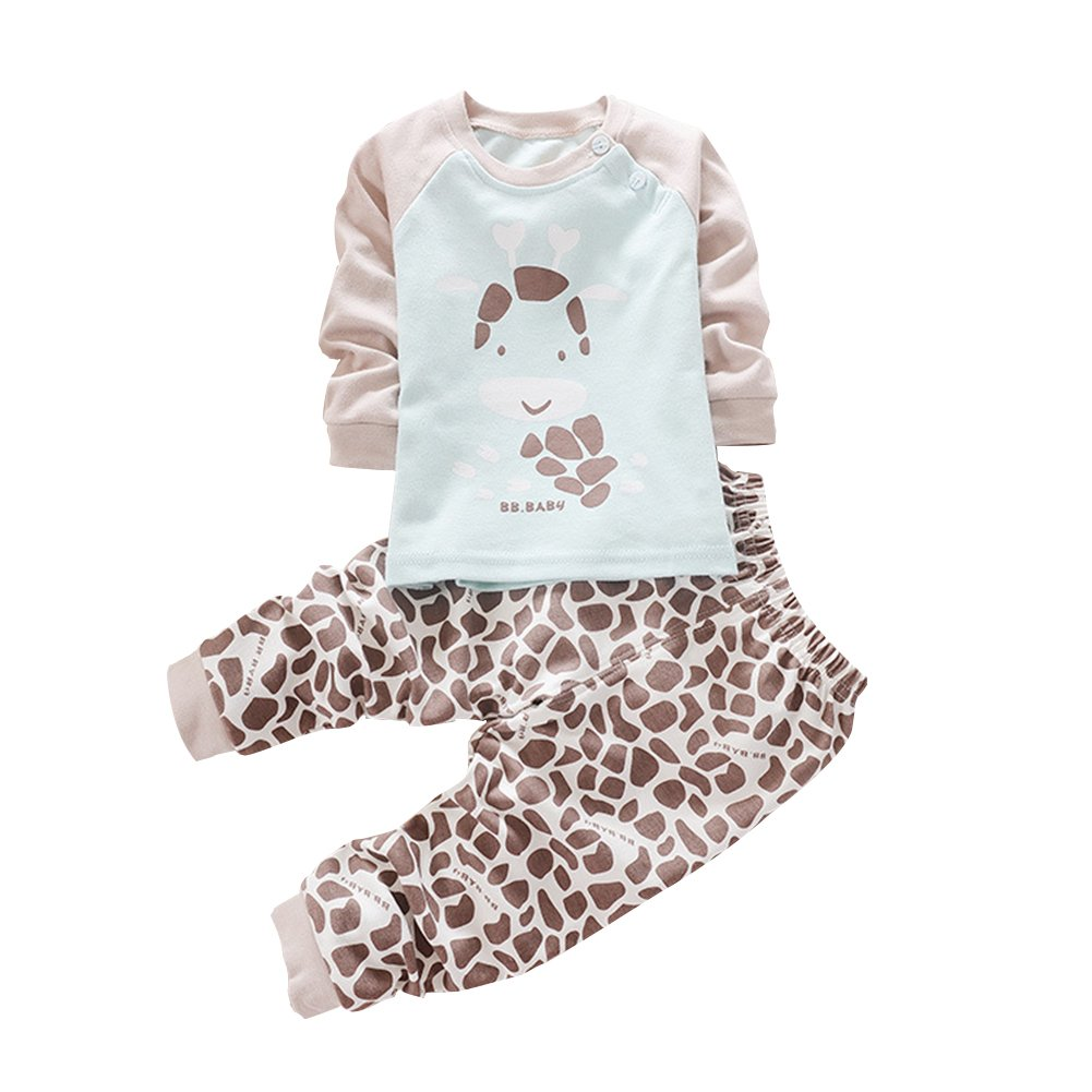 ESHOO Unisex Baby Kids Top with Pants 2pcs Inner Clothing Set, Sleeping Suit, Sport Suit