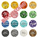 Natural Colour one set 16 colors Edible Glitter Flakes Edible Cake toppers Topping ingredients