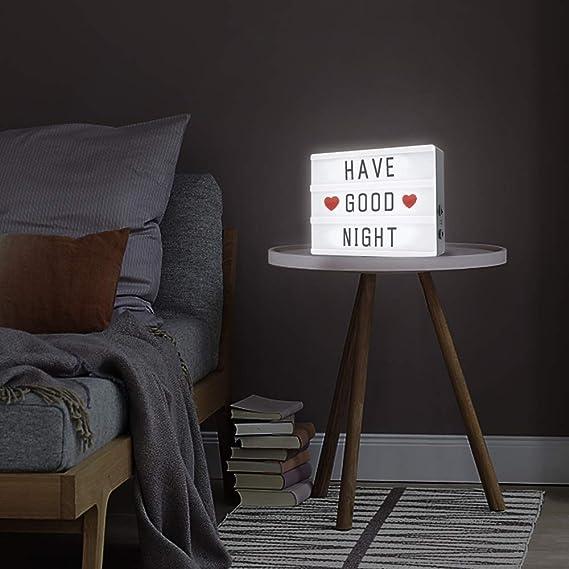 Amazon.com: Taillansin - Caja de luz de cine con 90 letras ...