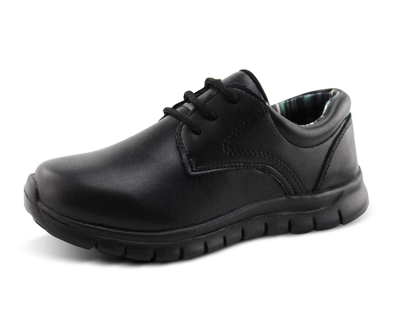 Jabasic Kids Lace-up Uniform Shoes Casual School Dress Shoes (13,Black)