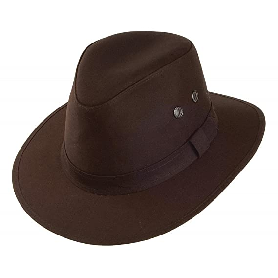d1f3e613687 Failsworth Hats Waxed Drifter Water Repellent Hat - Brown SMALL ...