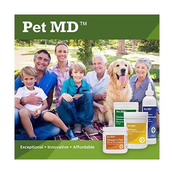 Pet MD - Dog Ear Cleaner Wipes - Otic Cleanser for Dogs to Stop Itching, Yeast and Mites with Aloe and Eucalyptus - 100 Count 7