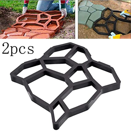 Marvelous Amazon Com 2Pcs Homdsim Stone Pattern Walk Maker Diy Ncnpc Chair Design For Home Ncnpcorg