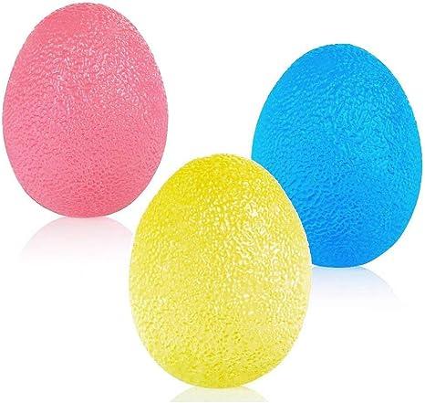 SKL Pelotas de ejercicio de mano de resistencia a los huevos ...