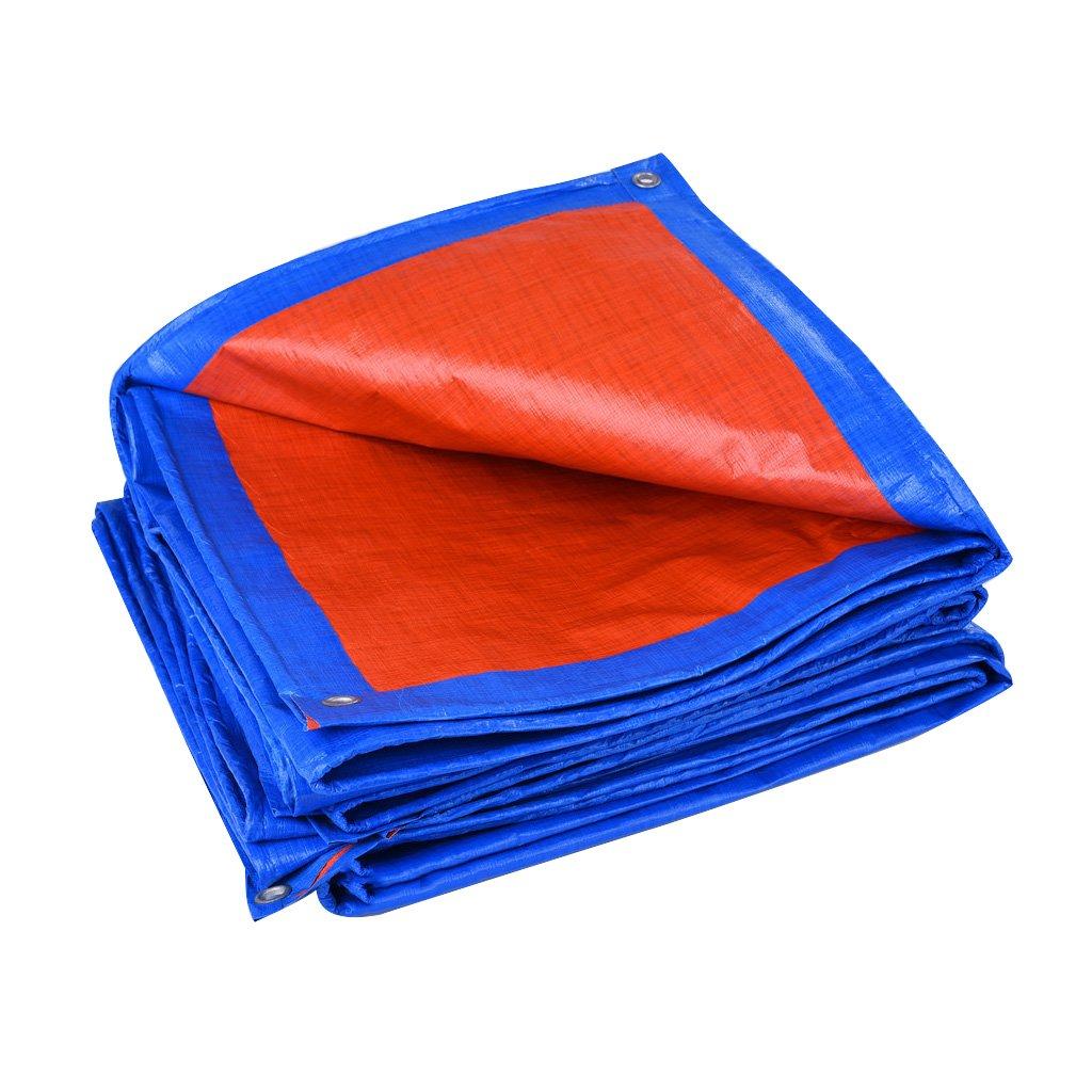 CAOYU Tarpaulin wasserdicht Poncho Dreirad LKW Sonnenschutz Sonnenschutzplane Faltbare Faltbare Sonnenschutzplane Anti-Oxidation, Orange + blau 73a9d8