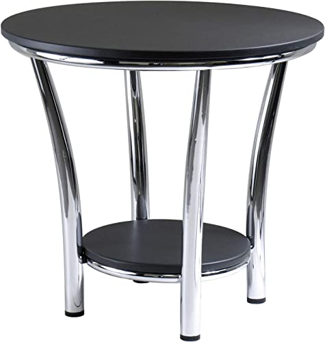 Winsome Wood Maya Occasional Table, Black Metal