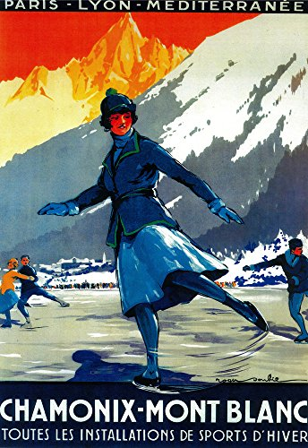 Chamonix-Mont Blanc Vintage Poster (24x36 SIGNED Print Master Giclee Print w/Certificate of Authenticity - Wall Decor Travel Poster)