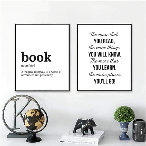 Definición de libro Impresión Regalo literario Cartel Cita