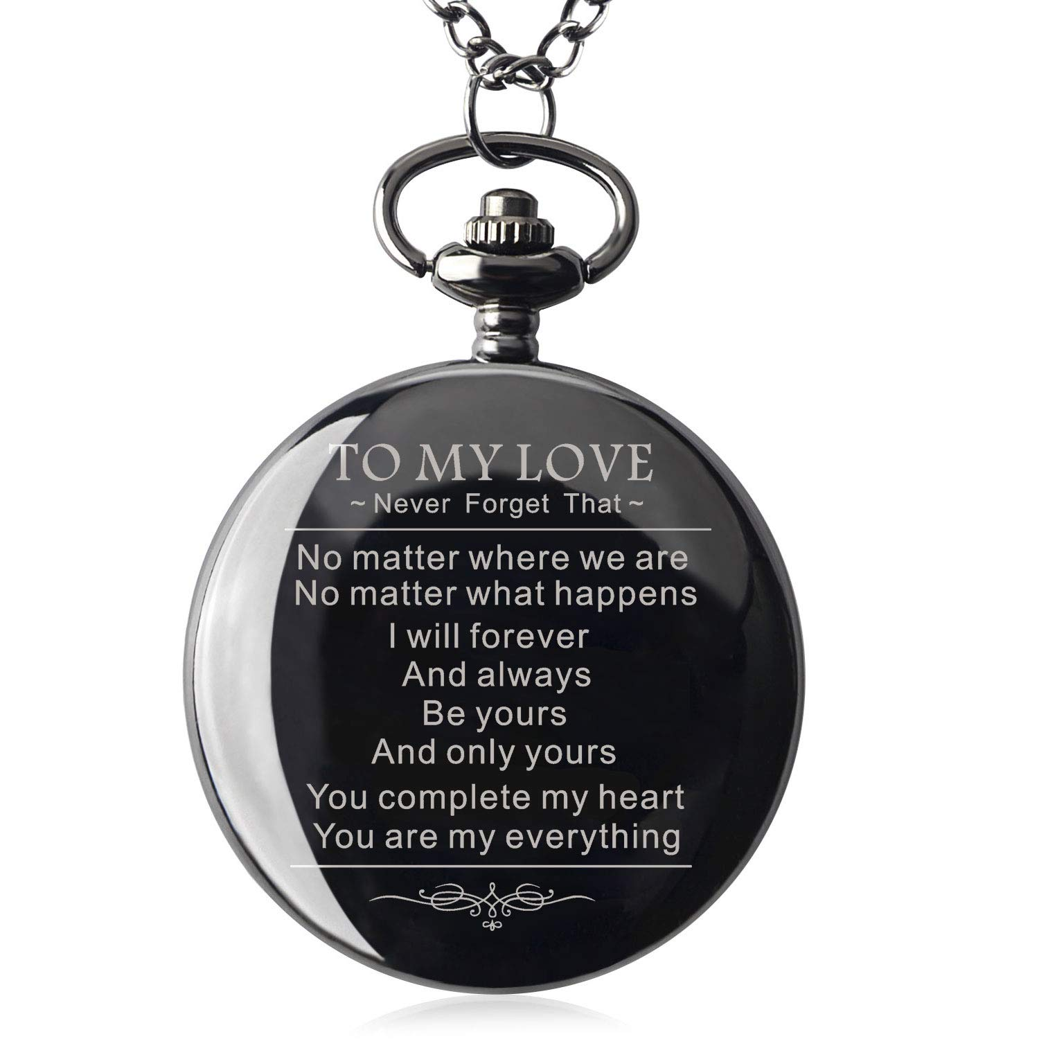 Boyfriends Gifts for Valentine's Day, Anniversary, Birthday Graduation Christmas Mens Personalized Mechanical Pocket Watch with Gift Box (to My Love) by Ginasy