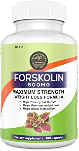 Nature's Pure Standardized Forskolin Extract 100% Pure Forskolin, Promotes Weight Loss, Advanced Weight Loss Supplement for Women & Men 90 Days Supply