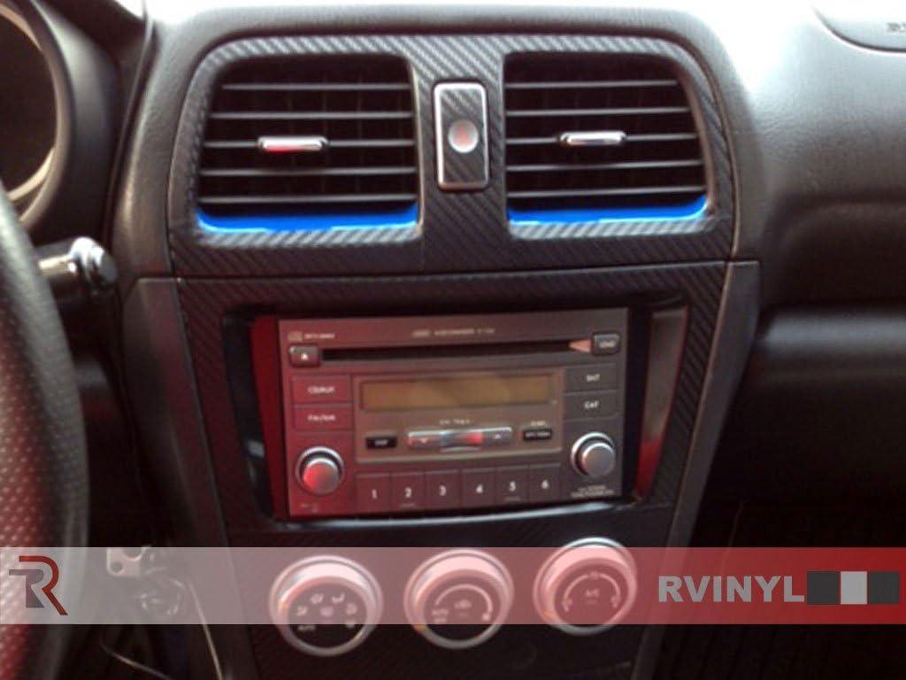 Rvinyl Rdash Dash Kit Decal Trim for Subaru Impreza//WRX 2002-2004 Blue Carbon Fiber 4D
