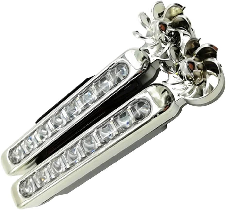 Luz Blanca BESPORTBLE 8 Led de Energ/ía E/ólica Exterior de Coche con Luz Diurna Luz Antiniebla para Coches Motos Camiones 2 Piezas