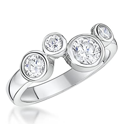 9da5d5cf36e61a JOOLS by Jenny Brown® -925 Sterling Silver Ring -Featuring an Offset  Setting of