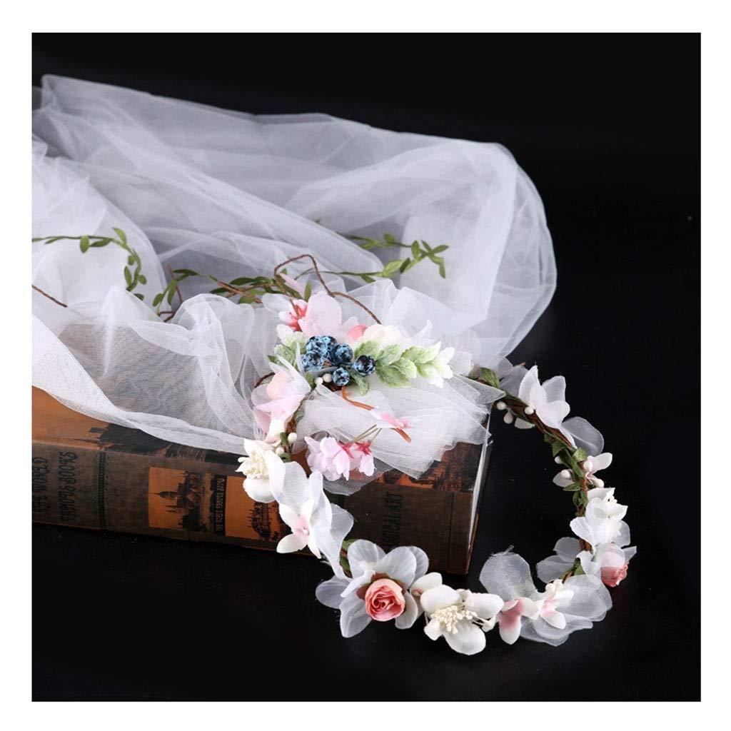 Couronne de fleurs Voile Photo Accessoires Tissu Voil Bande De Cheveux De Mariage Accessoires De Cheveux De Mariée &Guirlande de Fleurs