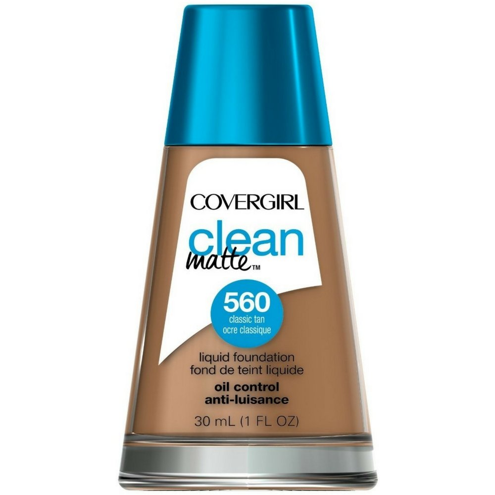 CoverGirl Clean Oil Control Liquid Makeup, Classic Tan [560] 1 oz ( Pack of 2)