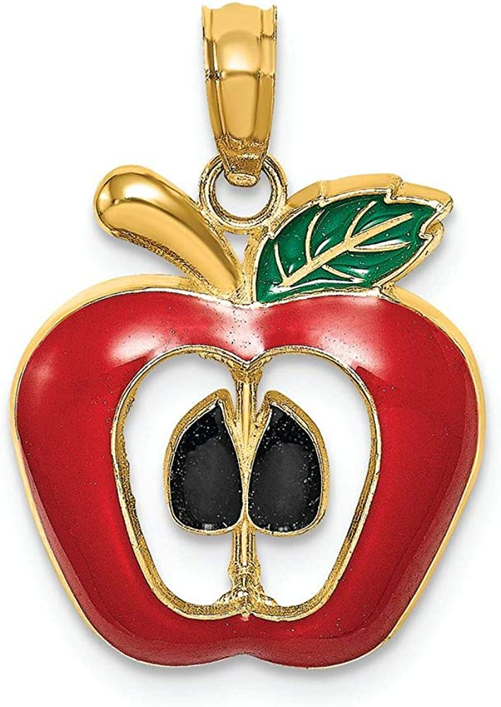 Finejewelers 14k Yellow Gold Apple with Seeds Charm