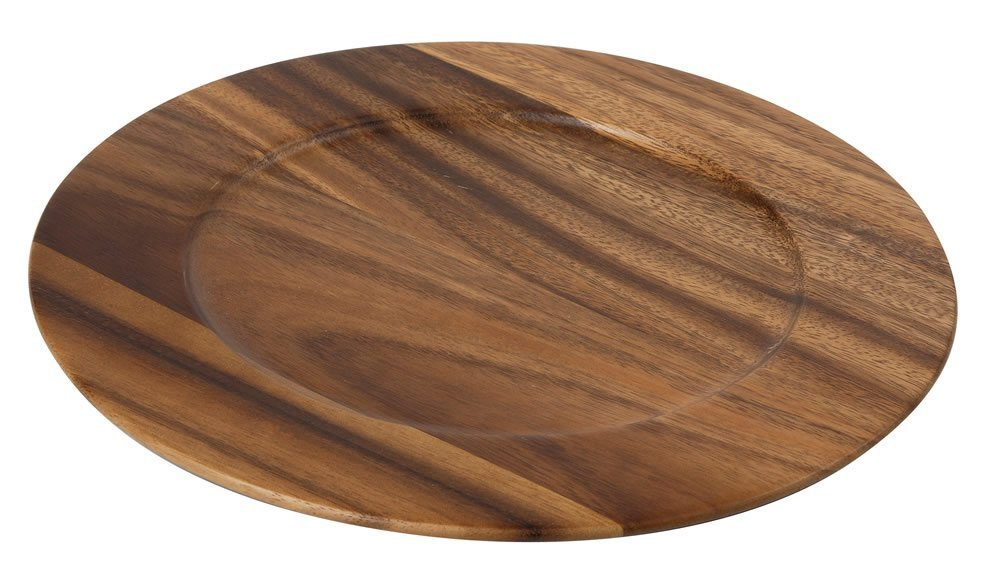 Tuscany Plate/Charger in Acacia D300 x H15mm Amazon.co.uk Business Industry u0026 Science  sc 1 st  Amazon UK & Tuscany Plate/Charger in Acacia D300 x H15mm: Amazon.co.uk: Business ...