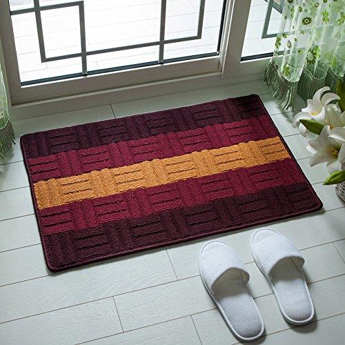 Household door mats/Pad/Mat/Entrance mats/Porch kitchen and toilet water-absorbing mats-D - 77cm Inch