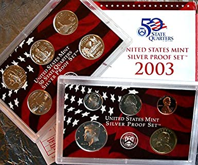 2003 United States Mint ANNUAL 10 Coin Proof Set Original Box and COA as Issued