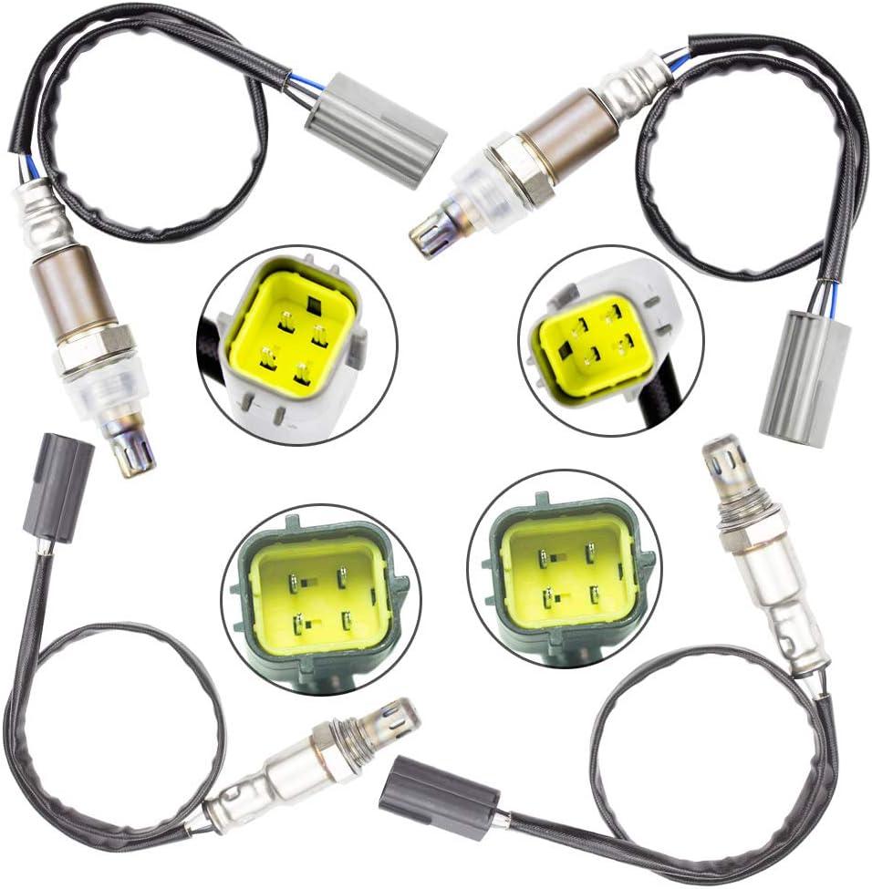 2pc Downstream Oxygen Sensor for Nissan 370Z 2009-2013 350Z Infiniti G25 G37 M37