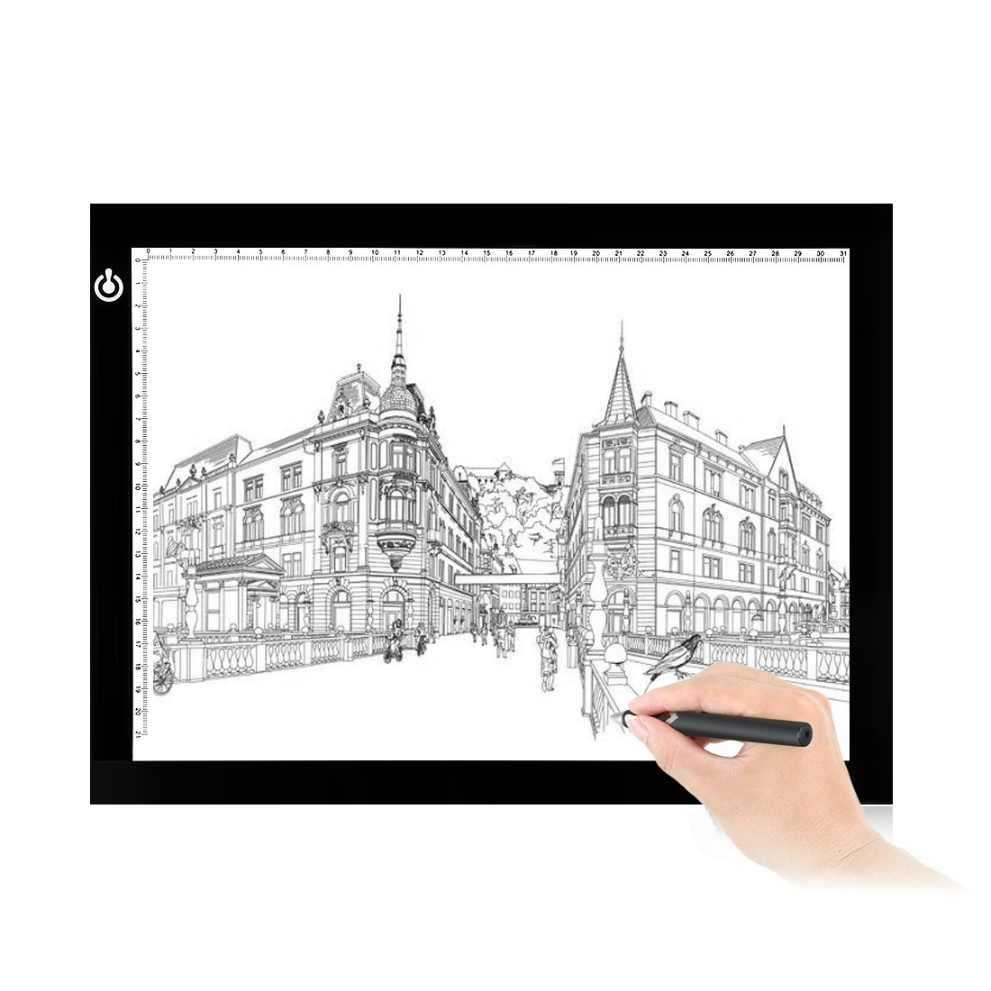 NXENTC A4 Tracing Light Pad Ultra-thin Portable LED Light Board Tracer USB Power LED Artcraft Tracing Light Table for Artists, Drawing, Sketching, Animation