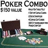 Texas Hold 'Em Poker Combo Pack - All-in-one Kit