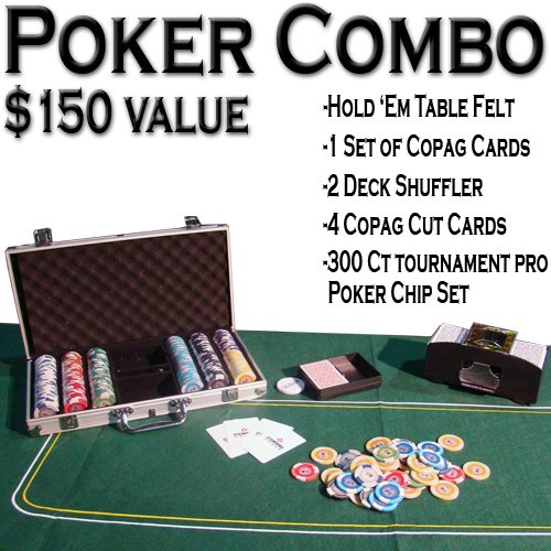 Texas Hold 'Em Poker Combo Pack - All-in-one Kit by Brybelly