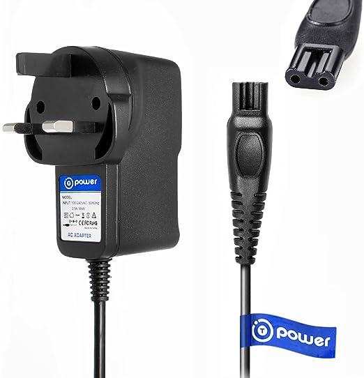 T-Power AC DC adaptador cargador rápido ((5 ft cable largo)) para Philips Norelco Precision, Afeitado, Spectra, Arcitec, SensoTouch afeitadora eléctrica Razor HQ8505/8500 X SmartTouch-XL Speed-XL HQ Serie: Amazon.es: Electrónica