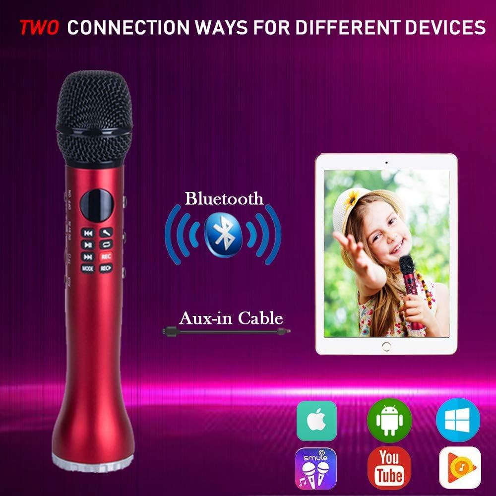 Protable Handheld Karaoke Mic Speaker Singing Machine with Marvelous Echo Effect for Kids and Adults Black JeKaVis J-M01 Wireless Bluetooth Karaoke Microphone