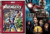 Iron Man 2 & The Ultimate Avengers Animated Movie Marvel DVD - Super hero movie Set