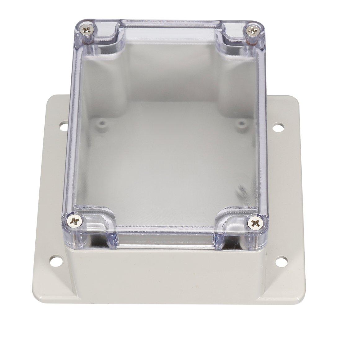sourcing map 115x90x68mm Bo/îtier de jonction en plastique ABS /électronique bricolage avec couvercle transparent