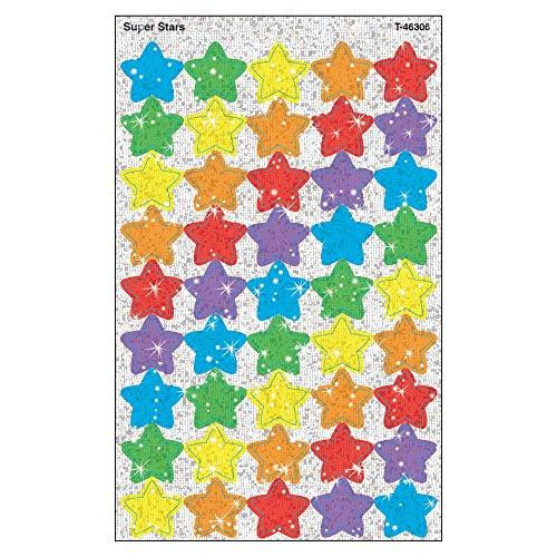 TREND enterprises, Inc. Super Stars superShapes Stickers-Sparkle, 180 ct