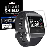 TECHGEAR [4 Pack] Screen Protectors to fit Fitbit Ionic [ghostSHIELD Edition] Genuine Reinforced Flexible TPU Screen Protector Guard Covers with Full Screen Coverage inc Curved Screen