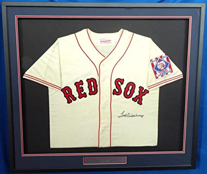 huge selection of ccc33 d6c48 Ted Williams Signed Jersey - Framed Mitchell & Ness Beckett ...