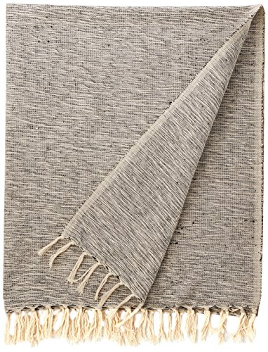 DII Rustic Farmhouse Cotton Variegated Blanket Throw with Fringe for Chair, Couch, Picnic, Camping, Beach, Everyday Use -  - blankets-throws, bedroom-sheets-comforters, bedroom - 61hTTd3dq4L -