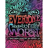 A Snarky Mandala Coloring Book: More Mandalas?!? Ugh: Midnight Edition