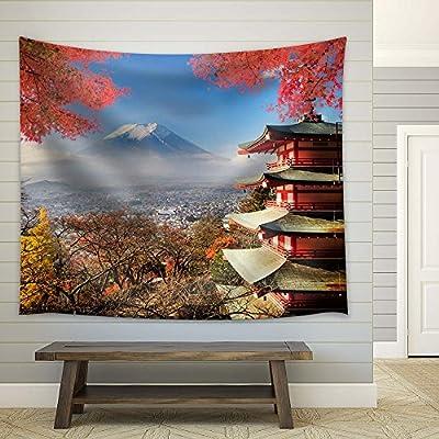 Quality Artwork, Alluring Creative Design, Beautiful Japanese Landscape of Mountain Fuji in Autumn